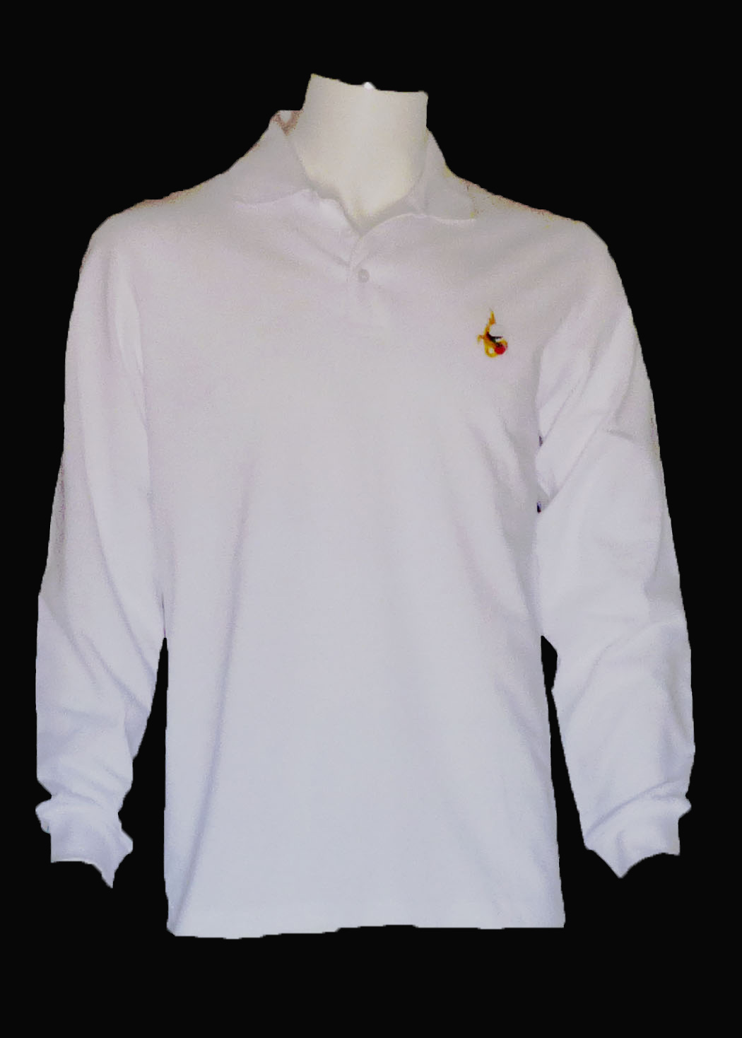 9de420a4cf Polo manches longues blanc brodé HAB101 : Vente et livraison des ...